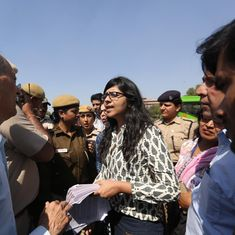 Delhi: Police detain women's panel chief during a march to the PMO for action against rapists