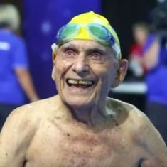 Watch: Ninety-nine-year-old Australian swimmer became the oldest person to earn two world records