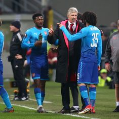 Europa League: Relief for Wenger as Arsenal win against AC Milan after 'nightmare' week