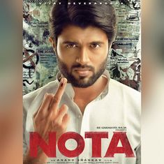 First look: 'Arjun Reddy' star Vijay Deverakonda shows an inked finger in Tamil drama 'NOTA'