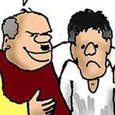कार्टून : नुकसान की भरपाई वह चूना बेचकर हो जाएगी जो बैंकों को लगा है