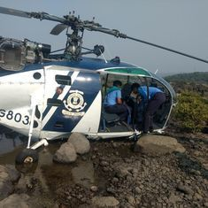 Maharashtra: Crew injured during 'emergency landing' of Indian Coast Guard helicopter in Murud