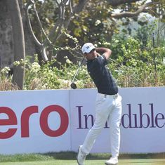 Golf: On a windy day at a tough course, Shubhankar Sharma takes joint lead at Indian Open