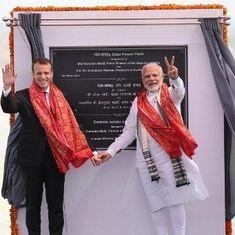 French President Emmanuel Macron, Narendra Modi inaugurate solar plant in Uttar Pradesh's Mirzapur