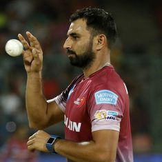 Shami attends Delhi Daredevils' practice session ahead of IPL