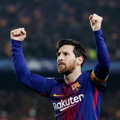 Messi scores a hat-trick as Barcelona equal longest unbeaten run record in Spanish League