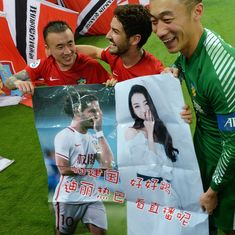 'You're most beautiful': Brazil football star Alexandre Pato makes public bid to woo Chinese actor