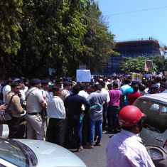 Goa: Truckers, mine workers defy prohibitory orders, protest in Panaji against mining ban