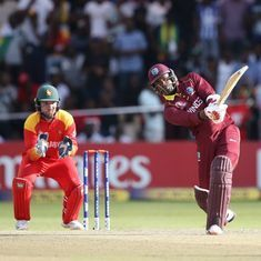 West Indies keep World Cup hopes alive with narrow win over Zimbabwe