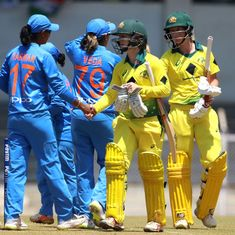 India slump to six-wicket defeat against Australia in women's tri-series opener