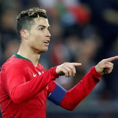 Cristiano Ronaldo scores two goals in stoppage time as Portugal down Egypt 2-1