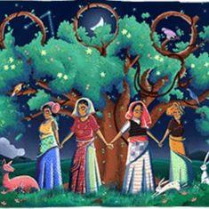 चिपको की 45वीं वर्षगांठ पर गूगल ने अपने डूडल के जरिये इस आंदोलन को याद किया है