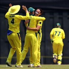 Australian Megan Schutt becomes first woman to claim two white ball hat-tricks