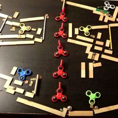 Watch: If you're done with your fidget spinners, how about using them to make this cool maze?