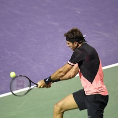 Del Potro powers into Miami Open semis after dramatic fightback against Milos Raonic