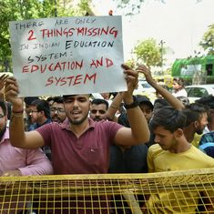 Question paper leaks: Students protest outside CBSE headquarters in New Delhi
