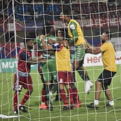 Sanjiban's heroics during penalties help Jamshedpur FC beat Minerva and enter Super Cup QF