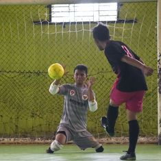 Born without feet, Eman Sulaeman is inspiring Indonesia with his goalkeeping prowess
