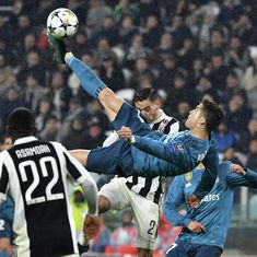 Cristiano Ronaldo's overhead kick against Juventus wins Uefa goal of the season