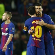 Champions League: Barcelona less than impressive but still end up thrashing AS Roma 4-1