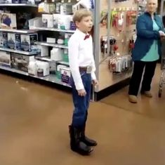 This video of a ten-year-old boy yodelling in a supermarket went instantly viral and sparked a trend