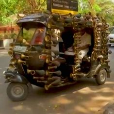 Video: What makes this auto rickshaw in Mumbai the symbol of an anti-honking campaign?