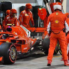 Ferrari mechanic suffers double leg fracture after Raikkonen runs him over during pit stop