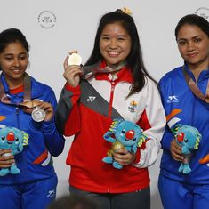 CWG 2018 Shooting: Mehuli Ghosh and Apurvi Chandela bag silver and bronze in 10 m Air Rifle