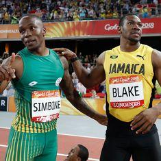 CWG 2018: Akani Simbine stuns Yohan Blake to win 100m race in 10.03 seconds