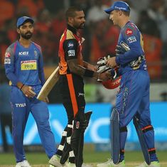 SRH vs RR, as it happened: Dhawan's unbeaten 77 steers Hyderabad to comprehensive 9-wicket win