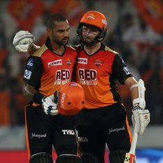 IPL 11: Shikhar Dhawan stars as Sunrisers Hyderabad demolish Rajasthan Royals by nine wickets