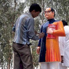 Uttar Pradesh: Ambedkar statue painted blue after getting saffron makeover