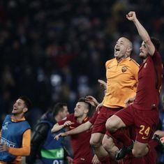 Barcelona suffer a shock Champions League exit as Roma go through on away goals