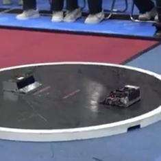 Watch: Tiny robots sumo-wrestle with one another, and there are tournaments to be won.