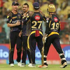 IPL 11: Rana, Narine star as Kolkata Knight Riders thump Delhi Daredevils by 71 runs