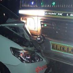 केंद्रीय मंत्री की एस्कॉर्ट कार को ट्रक ने टक्कर मारी, मंत्री ने साजिश की आशंका जताई