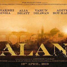 Multi-starrer 'Kalank' stars Alia Bhatt, Varun Dhawan, Madhuri Dixit and Sanjay Dutt