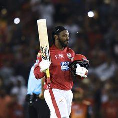 IPL 11: Chris Gayle's 63-ball 104 helps King XI halt Sunrisers' three-match winning streak