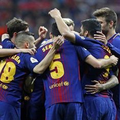 Messi, Suarez score as Barcelona thrash Sevilla 5-0 to win Copa del Rey for 30th time