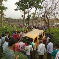 Uttar Pradesh: 13 children killed, eight injured as school van collides with train in Kushinagar