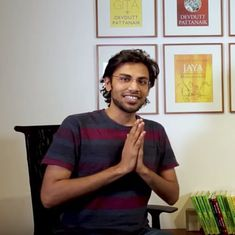 Watch: When comic artist Biswa Kalyan Rath gets lessons in mythology from Devdutt Pattanaik