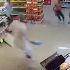 Watch: A robber in a store had his plans thwarted by a man in a cowboy hat. This was real life