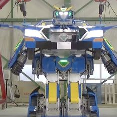This car can transform itself into a giant robot in under 60 seconds. The Transformer era is here