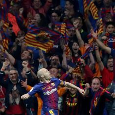 'Has there been a footballer more loved?' Twitter pays tribute to Andres Iniesta