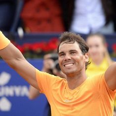 Record-breaking Rafael Nadal wins 50th consecutive set on clay to reach Madrid Open quarters