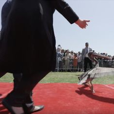 Watch: These pelicans decided to crash a graduation ceremony and created havoc