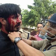 उत्तर प्रदेश : जिन्ना की तस्वीर को लेकर एएमयू में हिंसक टकराव