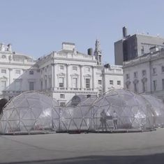 Watch: An artist has created pods to let people sample the pollution in cities around the world