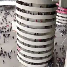 Watch: The internet is divided again as people are convinced this staircase is spinning (it's not)