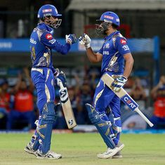 Rohit Sharma, Krunal Pandya finish KXIP in style to keep Mumbai Indians' IPL 2018 campaign alive